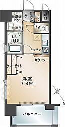 エンクレスト福岡[8階]の間取り
