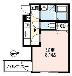 メゾングレース新松戸[203号室号室]の間取り