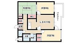 ネオ岩崎台[203号室]の間取り