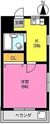 アムール鍋島[512号室]の間取り