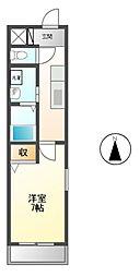 愛知県名古屋市昭和区広見町3丁目の賃貸マンションの間取り