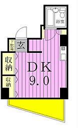 ジュネパレス松戸第79[5階]の間取り