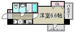 大阪府大阪市西淀川区野里2丁目の賃貸マンションの間取り