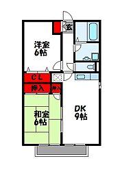 セジュールスターブル[2階]の間取り