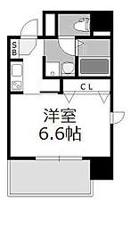 プレミアムステージ新大阪駅前[604号室]の間取り