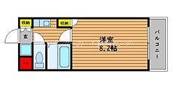 JR山陽本線 岡山駅 3.5kmの賃貸マンション 1階1Kの間取り