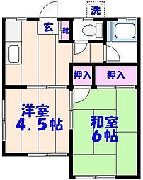 第1網茂荘[102号室]の間取り