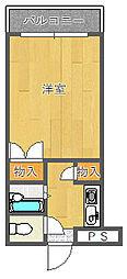 ギャレ豊津[1階]の間取り