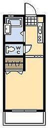 関山第一コーポ[209号室]の間取り