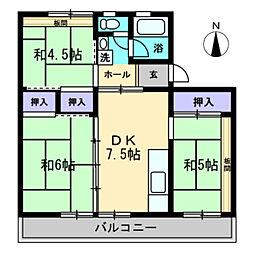 第2飯間ビル[302号室]の間取り