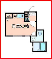 東京都葛飾区金町5丁目の賃貸アパートの間取り