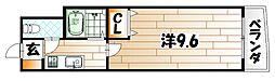 No.27 ジーサイド アネックス[4階]の間取り