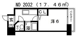 エステムコート四天王寺夕陽丘[5階]の間取り