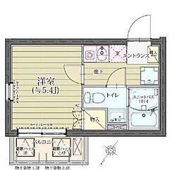 THEROOMS渋谷本町 3階1Kの間取り