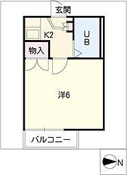 アビタシオン観音寺[2階]の間取り