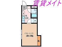 三重県伊勢市小木町の賃貸アパートの間取り