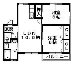 新潟県新潟市西区東青山1丁目の賃貸アパートの間取り