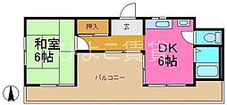 コーポカトー[2階]の間取り