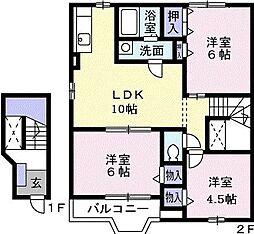 ポラリスハウス[2階号室]の間取り