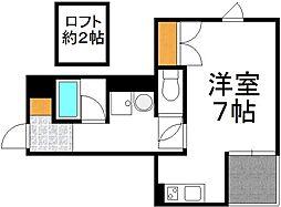 仮)下新庄5丁目アパート 2階ワンルームの間取り