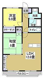 マンションM[303号室]の間取り