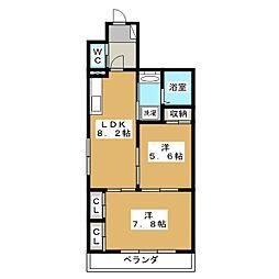 エスポワール麩屋町[3階]の間取り