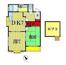プラザOH[2階]の間取り