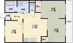 メゾンハピネス[3階]の間取り