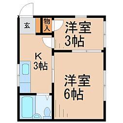宮内ハイツA棟[1階]の間取り