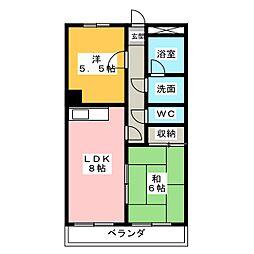 アラカワビル[3階]の間取り