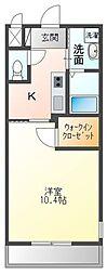 高松琴平電気鉄道琴平線 三条駅 徒歩15分の賃貸アパート 2階1Kの間取り