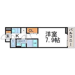 兵庫県尼崎市長洲東通1丁目の賃貸アパートの間取り