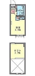 フェリーチェ生田[2階]の間取り