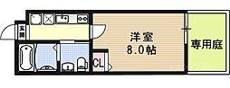 京都府京都市上京区観世町の賃貸マンションの間取り