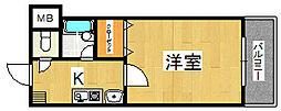 生駒カッレジシティII号棟[4階]の間取り