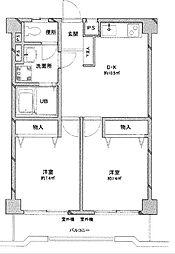 トーアホワイトハイツ[3階]の間取り