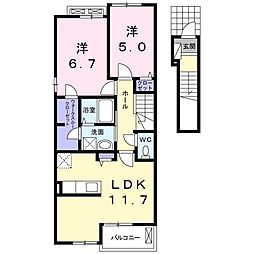 ストロベリーカーサ VIII-2[2階]の間取り