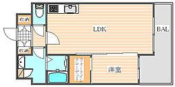ラフレシーサ博多駅南[3階]の間取り