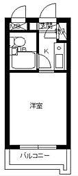 東京都大田区上池台3丁目の賃貸マンションの間取り