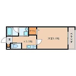 JR東海道本線 静岡駅 徒歩19分の賃貸マンション 1階1Kの間取り