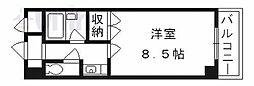 京都府京都市山科区大宅沢町の賃貸マンションの間取り