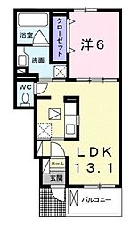 ラズベリーコート[1階]の間取り
