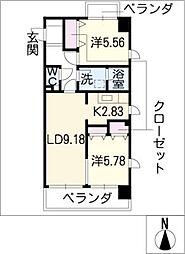La FELMO 菊坂[8階]の間取り