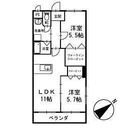 ワンズホーム北野 3階[301号室]の間取り