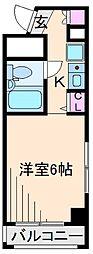 神奈川県横浜市港北区綱島西2丁目の賃貸マンションの間取り
