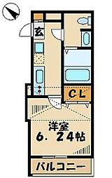プラウランド京王堀之内[1階]の間取り