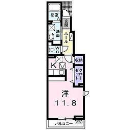 シームリーハウス南斎院[101 号室号室]の間取り