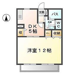 愛知県清須市一場福島丁目の賃貸アパートの間取り