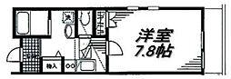 神奈川県横浜市南区大岡4丁目の賃貸アパートの間取り