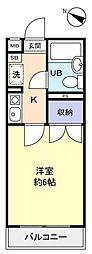 サンノーブル勝田台壱番館[1階]の間取り